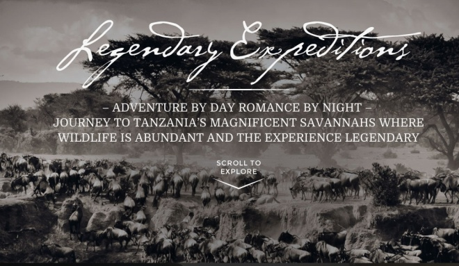 Legendary Expeditions Website